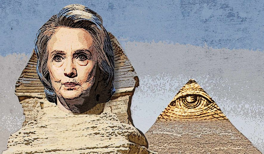 Illustration on Mrs. Clinton, terrorist groups and U.S. intelligence operations in the Middle-East by Greg Groesch