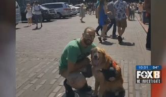 David Ballengee, a Marine veteran, is filing a discrimination complaint against a New Orleans antique store after the owner kicked him out for failing to provide identification for his service animal. (WVUE)