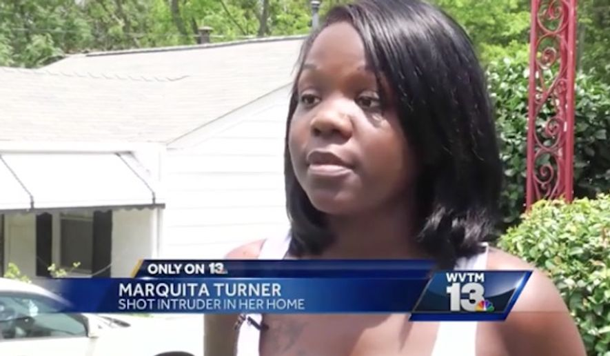 Marquita Turner, who is five months pregnant, says she took matters into her own hands to protect herself and her child when she used her pink handgun to shoot a home intruder last week. (WVTM)