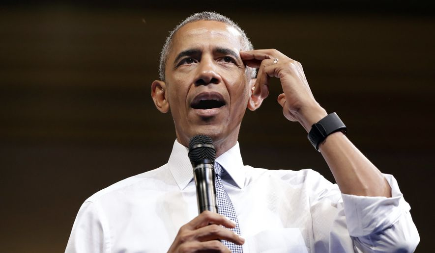 President Barack Obama gestures while saying it's important to think about the why when choosing a goal or profession, as he speaks to Young African Leaders Initiative event at the Omni Shoreham Hotel, Wednesday, Aug. 3, 2016, in Washington. (AP Photo/Jacquelyn Martin) **FILE**