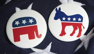 Republican and Democratic party symbols