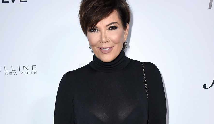 FILE - This March 20, 2016 file photo shows Kris Jenner at Daily Front Row's Fashion Los Angeles Awards in Los Angeles. Sheriff's officials say Jenner was involved in a traffic crash on Wednesday, Aug. 3, 2016, after a driver turned in front of her on a road in Calabasas, Calif. The Kardashian family matriarch and the other driver declined to be taken from the scene by ambulance for medical treatment. (Photo by Jordan Strauss/Invision/AP, File)