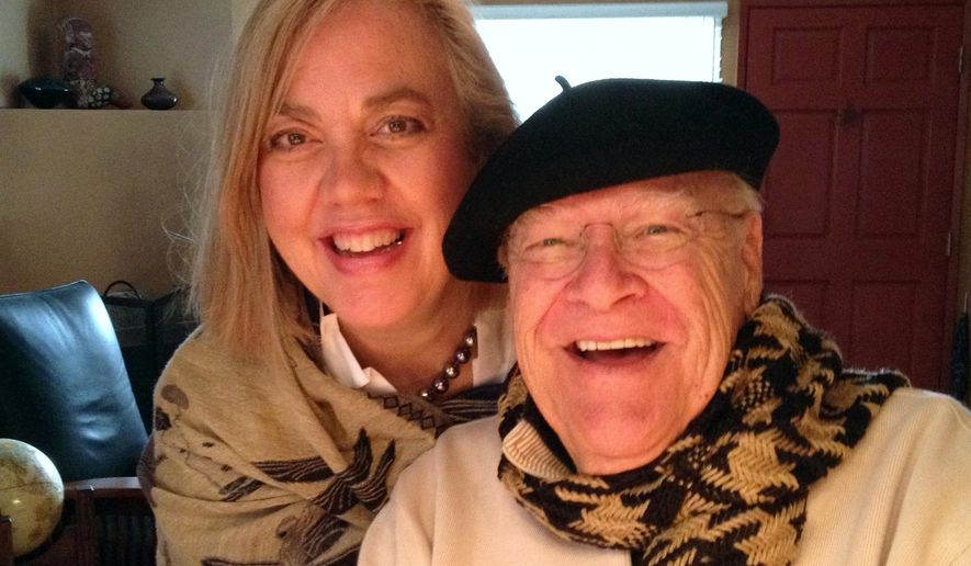 "This undated photo provided by Sarah C. Koeppe, shows David Huddleston and his wife Sarah C. Koeppe. Huddleson, a character actor best known for portraying titular roles in ""The Big Lebowski"" and ""Santa Claus: The Movie,"" died Tuesday, Aug. 2, 2016. He was 85. (Sarah C. Koeppe via AP)"