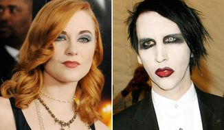 Actor Evan Rachel Wood was engaged to Rocker Marilyn Manson in 2010, but the odd couple split-up later that year.