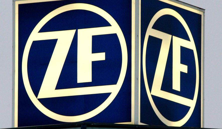 FILE - In this Nov. 30, 2004 file photo, the illuminated IF logo is shown in Friedrichshafen, Germany.  Automotive parts supplier ZF North America is recalling 505,000 control sensors in the U.S. because they can make some nine-speed transmissions shift into neutral without warning. The company says, Friday, Aug. 5, 2016, in government documents that the transmissions were sold to several automakers that will issue recalls. But the only one identified was Fiat Chrysler, which discovered the problem and reported it to the National Highway Traffic Safety Administration. (AP Photo/Winfried Rothermel)