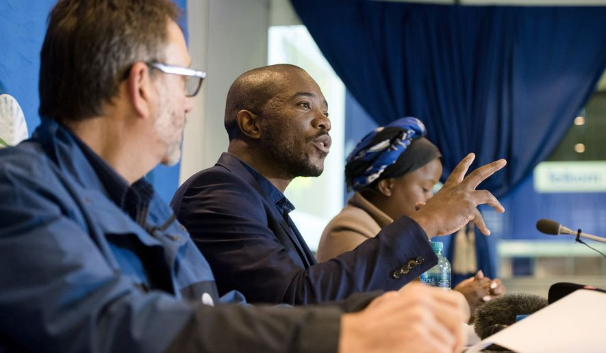 "Leader of the official opposition Democratic Alliance Mmusi Maimane talks to the press at the election results center in Pretoria, South Africa, Saturday, Aug. 6, 2016. Since South Africa's first all-race election in 1994, the African National Congress party has had widespread support on the strength of its successful fight against white-minority rule. But this is its worst-ever election showing after corruption scandals and a stagnant economy that has frustrated the urban middle class. ""The tide in our country is turning,"" the leader of the leading opposition party says.(AP Photo/Herman Verwey)"
