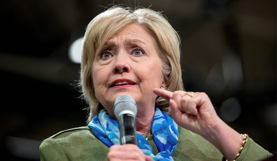 Hillary Clinton continues say no classified mail passed through her account, once again contradicting the findings of FBI Director James B. Comey. (Associated Press)