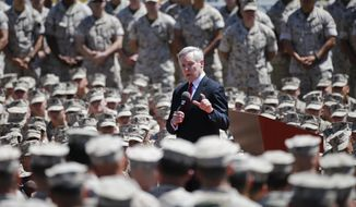 Ray Mabus has veered from tradition to affix the names of liberal Democrats to war vessels in a special and coveted military honor during his long tenure as President Obama's only Navy secretary. (Associated Press)