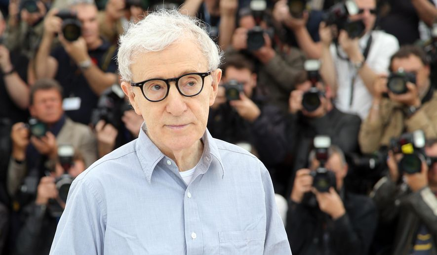 In this Wednesday, May 11, 2016, file photo, director Woody Allen poses for photographers during a photo call for the film Cafe Society, at the 69th international film festival, Cannes, southern France. (AP Photo/Thibault Camus, File)