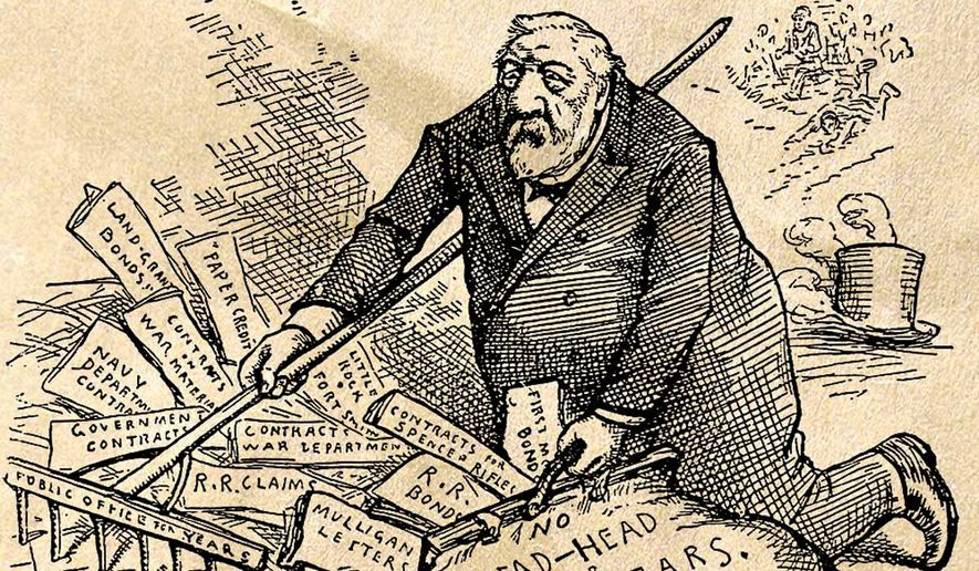 A Thomas Nast cartoon of Jame G. Blaine