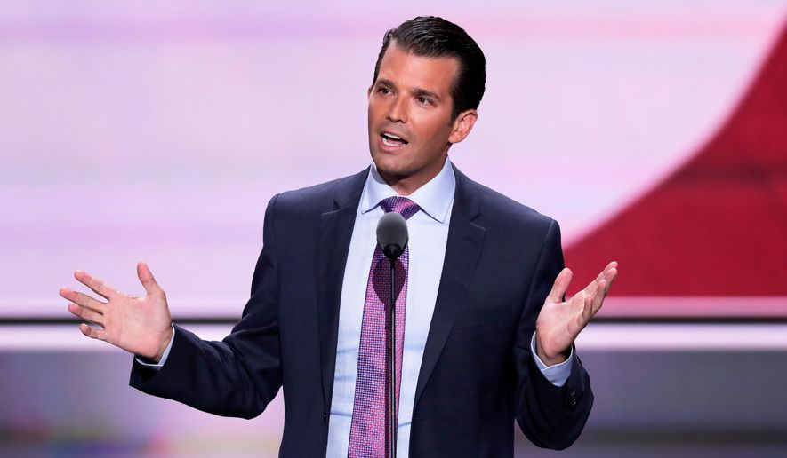Donald Trump Jr. is upping the fundraising effort for his father's campaign for president. (Associated Press)