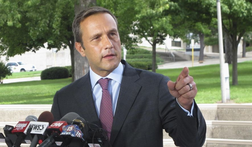 FILE - In this Aug. 3, 2016 file photo, Paul Nehlen, a Republican primary challenger to House Speaker Paul Ryan, speaks in Janesville, Wis. Nehlen's longshot bid to unseat Ryan will be the highlight of an otherwise sleepy Wisconsin primary Tuesday, Aug. 9, 2016. (AP Photo/Scott Bauer, File) **FILE**