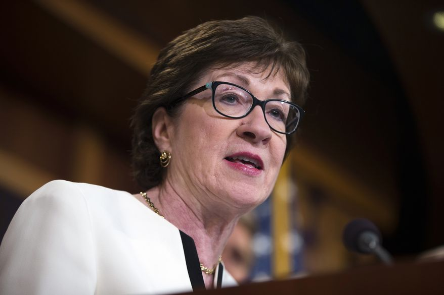 Sen. Susan M. Collins of Maine. (Associated Press/File)
