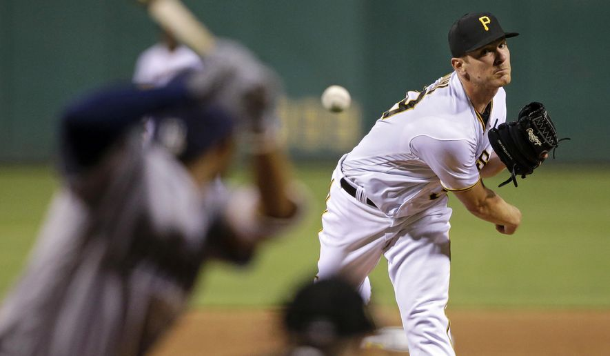 Pittsburgh Pirates starting pitcher Chad Kuhl delivers in the fourth inning of a baseball game against the San Diego Padres in Pittsburgh, Tuesday, Aug. 9, 2016. (AP Photo/Gene J. Puskar)