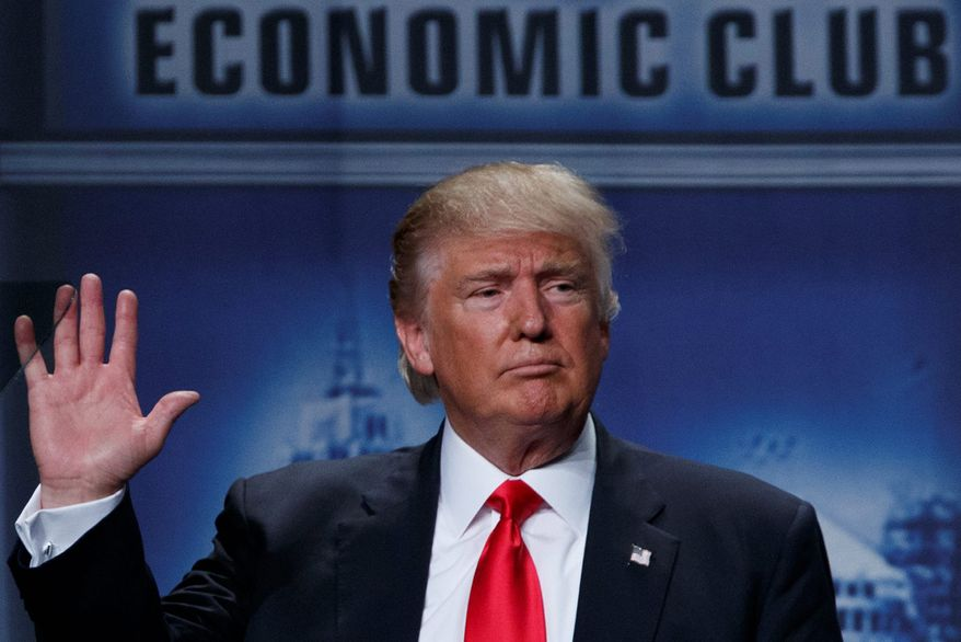 New polling numbers show that voters trust Republican Donald Trump's vision for the ecomony over that of Hillary Clinton. (Associated Press)