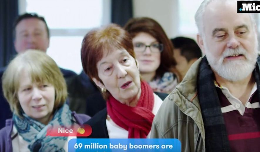 The website Mic, which is geared towards young people, released an add that frames Baby Boomers as out-of-touch and intolerant when compared to millennials. (YouTube, Mic)