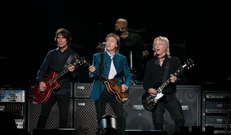 Paul McCartney Performs With His Band At Verizon Center Erica Bruce