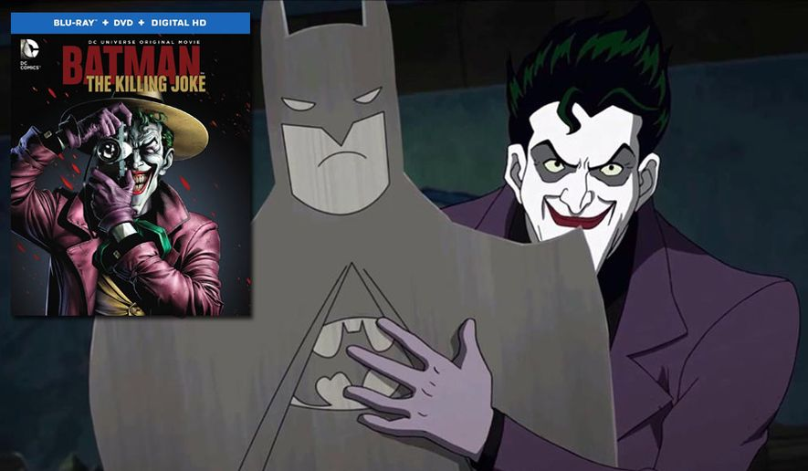 "The Joker fights for screen time in ""Batman: The Killing Joke,"" now available on Blu-ray from Warner Bros. Home Entertainment."