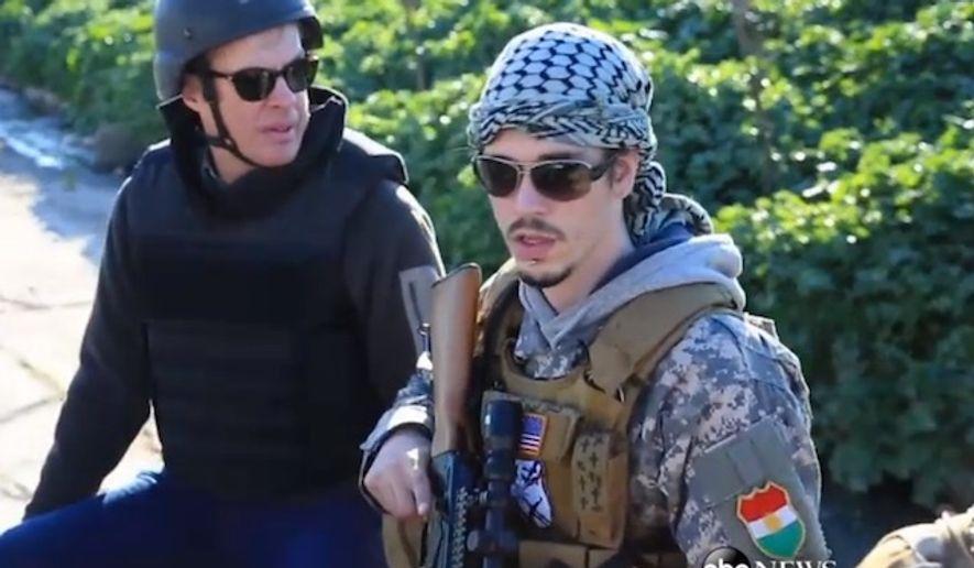 "ABC News went to Iraq in 2015 to speak with U.S. military veterans fighting the Islamic State group. (ABC News, ""Nightline"" screenshot)"