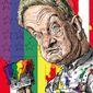 Illustration of George Soros by Alexander Hunter/The Washington Times