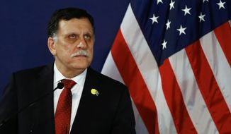 """There will be no foreign intervention without the authorization of this government,"" said Prime Minister Fayez Sarraj of the U.N.-backed Government of National Accord. ""This decision is an activation of Libya's role in both Islamic and international alliances to fight terrorism."" (Associated Press)"