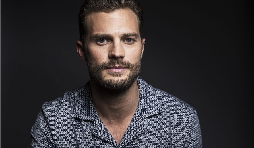 "In this Aug. 6, 2016 photo, actor Jamie Dornan poses for a portrait to promote his film, ""Anthropoid"" in New York. (Photo by Taylor Jewell/Invision/AP)"