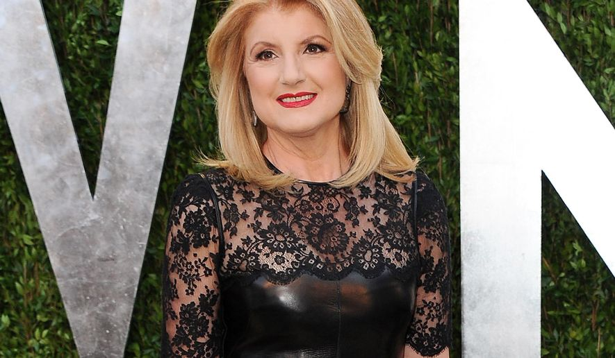 FILE - This Feb. 24, 2013 file photo shows Arianna Huffington arrives at the 2013 Vanity Fair Oscars Viewing and After Partyl in West Hollywood, Calif.  Huffington says she is stepping down as editor-in-chief to focus on a health startup, Thursday, Aug. 11, 2016.  (Photo by Jordan Strauss/Invision/AP, file)