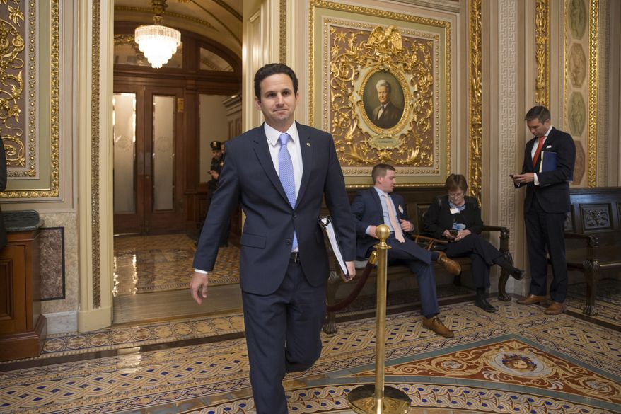 Sen. Brian Schatz, Hawaii Democrat, retweeted Monday an article about gunman Devin Kelley having been convicted in an Air Force court-martial of attacking his then-wife and stepson. (AP Photo/J. Scott Applewhite, File)