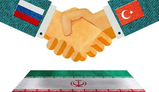 Russia-Turkey Relations Illustration by Greg Groesch/The Washington Times
