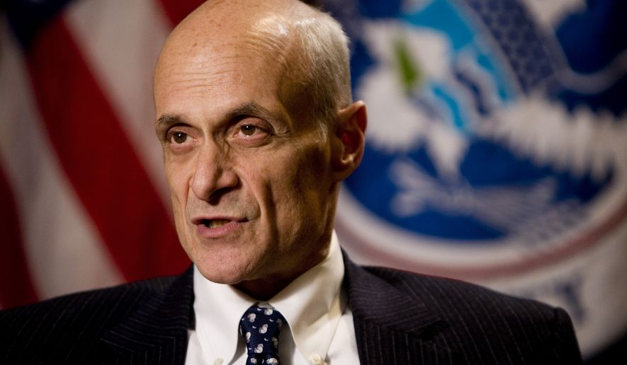 Former Department of Homeland Security Secretary Michael Chertoff was among the Republicans who signed the letter of 50. Mr. Chertoff left government and founded The Chertoff Group, an international consulting firm. (Associated Press)