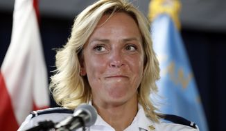 D.C. Police Chief Cathy L. Lanier, who said she made her final decision to accept the NFL position on Monday, will leave the department on Sept. 17. (Associated Press)