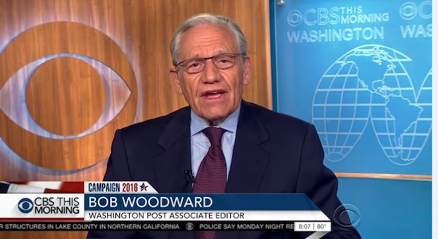 """Bob Woodward, the famed investigative reporter who worked alongside Carl Bernstein in breaking the 1970s Watergate scandal, said Tuesday that Hillary Clinton's """"habit of secrecy"""" concerning her private email server is a """"very serious issue"""" that may offer a glimpse at how nontransparent her presidency would be. (CBS)"""