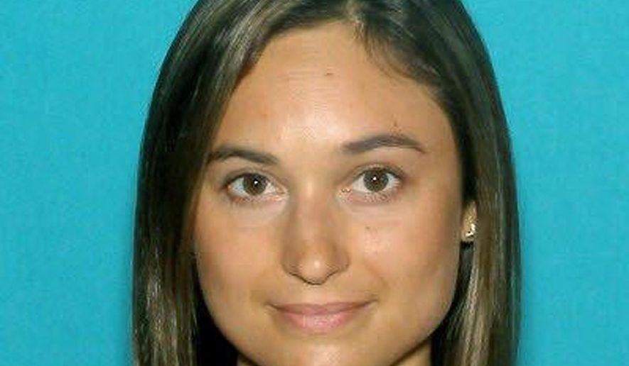 This undated driver license photo released by the Worcester County District Attorney's Office shows Vanessa Marcotte, of New York, whose body was found Sunday night, Aug. 7, 2016, in the woods about a half-mile from her mother's home in the town of Princeton, Mass., about 40 miles west of Boston. (Worcester County District Attorney's Office via AP, File)