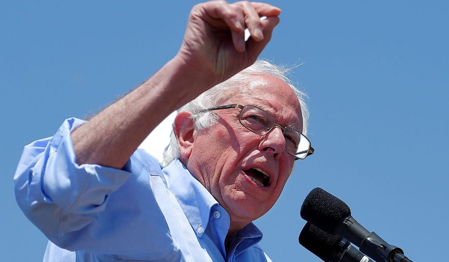 Sen. Bernard Sanders said he wasn't sure whether the Clinton Foundation needs to be shut down altogether, but said if Hillary Clinton wins the White House, she needs to divorce herself from it. (Associated Press)