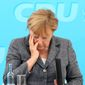 "German Chancellor Angela Merkel, who supports sanctions against Russia, is unlikely to lose elections next month, but the nation's domestic intelligence agency says Moscow can be expected to settle for shenanigans that weaken the public's ""faith in democracy."" (Associated Press/File)"