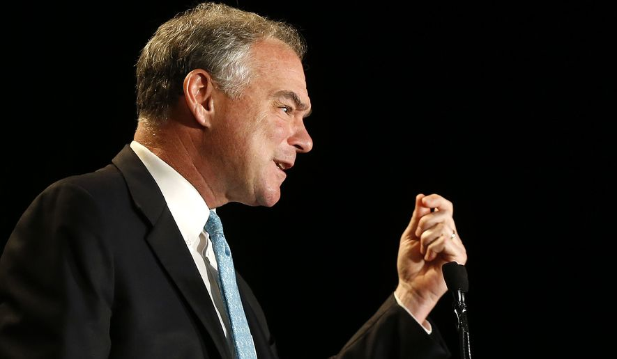 Analysts say Tim Kaine's bland yet steady approach, along with his decades of public service as a mayor, governor and now a senator, are proving an asset to the Clinton campaign. (Associated Press)