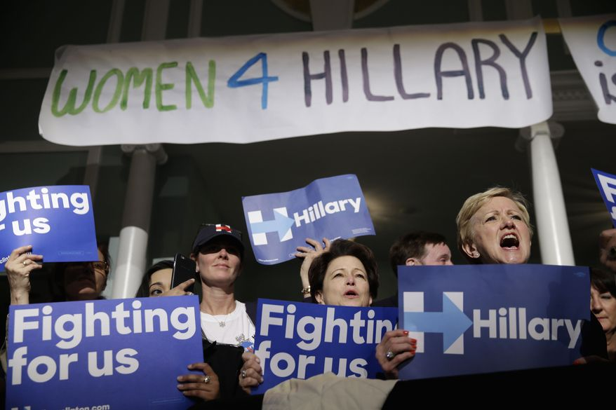 Some polls show Donald Trump not just underperforming among white women compared with past Republican nominees, but trailing Hillary Clinton outright. (Associated Press)