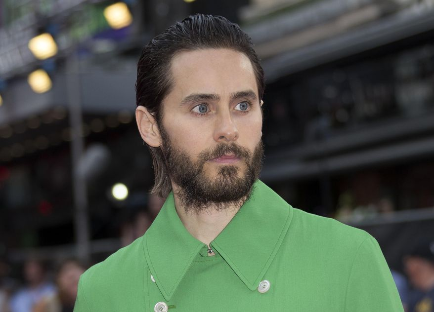 """Actor Jared Leto poses for photographers at the European Premiere of Suicide Squad, at a central London cinema, Aug. 3, 2016. Mr. Leto will join Harrison Ford and Ryan Gosling in the sequel to """"Blade Runner."""" (AP Photo/Joel Ryan) ** FILE **"""