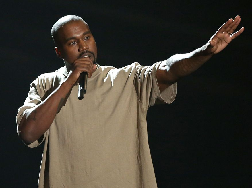 "In this Sunday, Aug. 30, 2015, file photo, Kanye West accepts the video vanguard award at the MTV Video Music Awards at the Microsoft Theater in Los Angeles. West announced on Twitter Aug. 17, 2016, that he will open 21 temporary ""Pablo"" stores worldwide on the weekend of Aug. 20. (Photo by Matt Sayles/Invision/AP, File)"