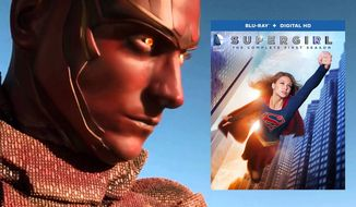 "Red Tornado stops by to challenge Kara Danvers in Supergirl: The Complete First Season,"" now available on Blu-ray from Warner Bros. Home Entertainment."