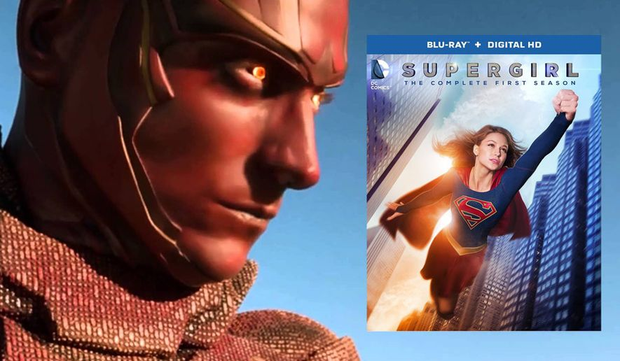"""Red Tornado stops by to challenge Kara Danvers in Supergirl: The Complete First Season,"""" now available on Blu-ray from Warner Bros. Home Entertainment."""