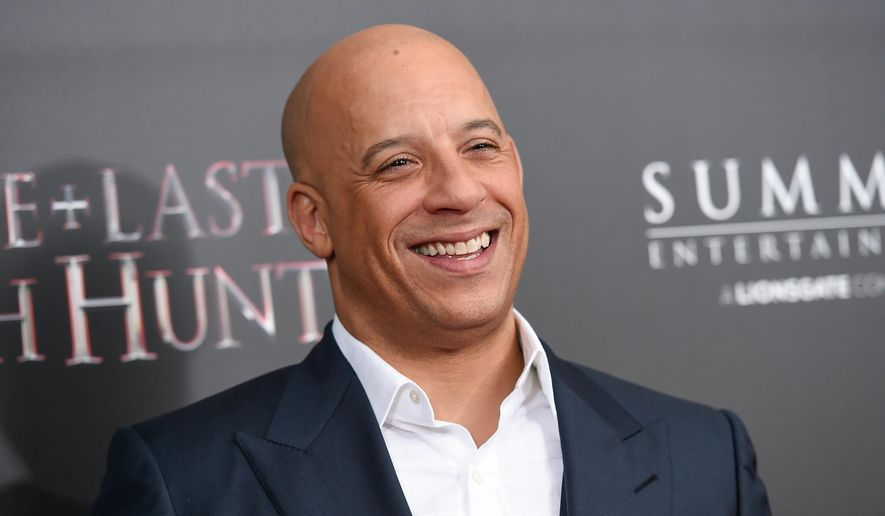 """In this Oct. 13, 2015, file photo, actor Vin Diesel attends a special screening of """"The Last Witch Hunter"""" at the Loews Lincoln Square in New York. The """"Fast & Furious"""" star portrayed extraterrestrial Groot in 2014's """"Guardians of the Galaxy"""" alongside Chris Pratt, Zoe Saldana and Bradley Cooper.(Photo by Evan Agostini/Invision/AP, File)"""