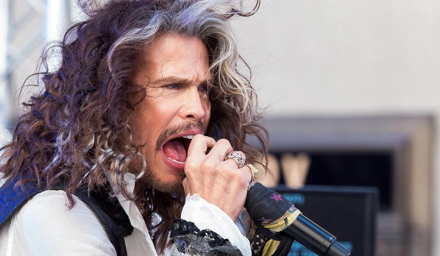 "In this June 24, 2016, file photo, Steven Tyler performs on NBC's ""Today"" show at Rockefeller Center in New York. (Photo by Charles Sykes/Invision/AP, File)"