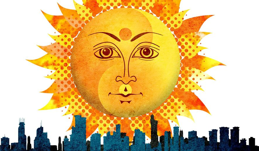 Yin and Yang Sun Illustration by Greg Groesch/The Washington Times