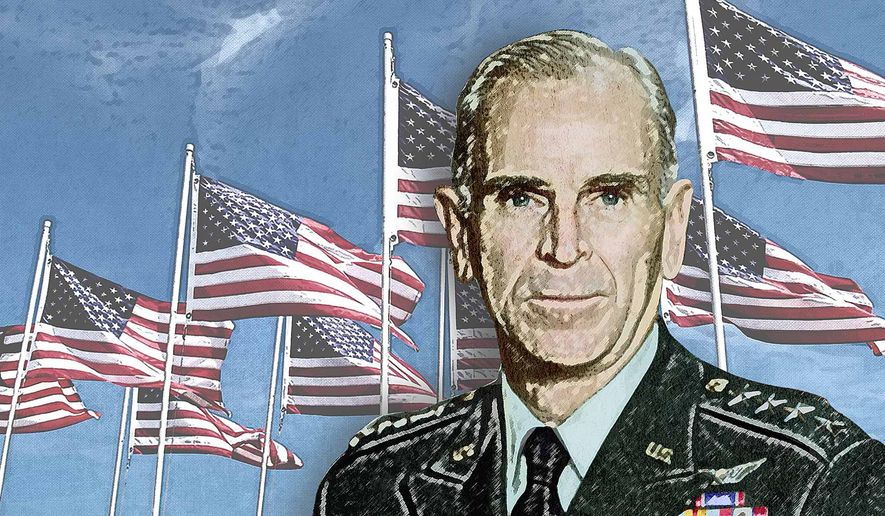 Gen. Jack Vessey Illustration by Greg Groesch/The Washington Times