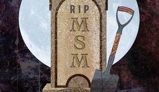 Gravesite of Main Stream Media Illustration by Greg Groesch/The Washington Times