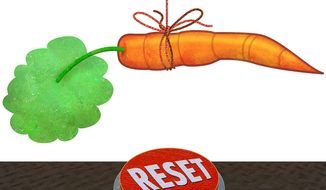 Incentive to Press the Reset Button Illustration by Greg Groesch/The Washington Times