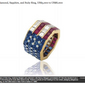 A ring owned by the late Nancy Reagan, up for auction in September at Christie's. Image via screen capture from the National Post.