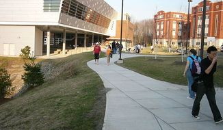 """The State University of New York (SUNY) at Binghamton reportedly hosted a training course for residential assistants on how to """"stop white people."""" (Wikipedia/Mountainview College residential hall at Binghamton University)"""