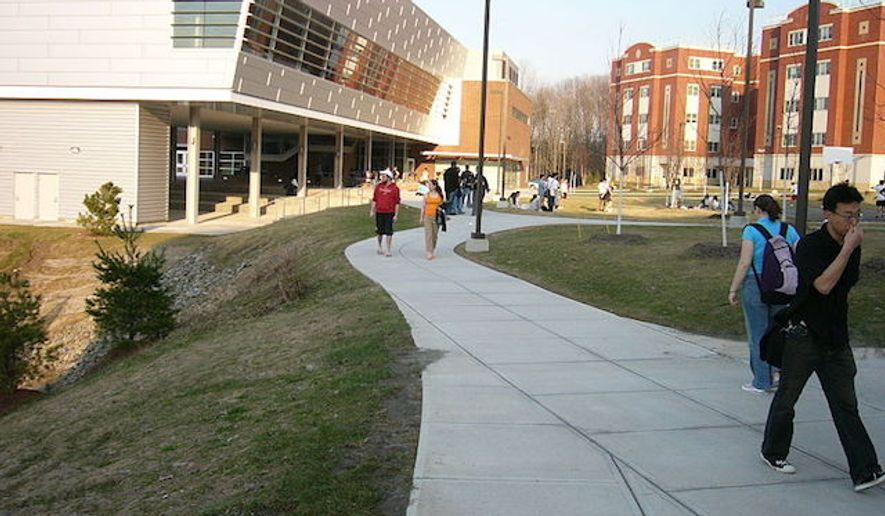 "The State University of New York (SUNY) at Binghamton reportedly hosted a training course for residential assistants on how to ""stop white people."" (Wikipedia/Mountainview College residential hall at Binghamton University)"